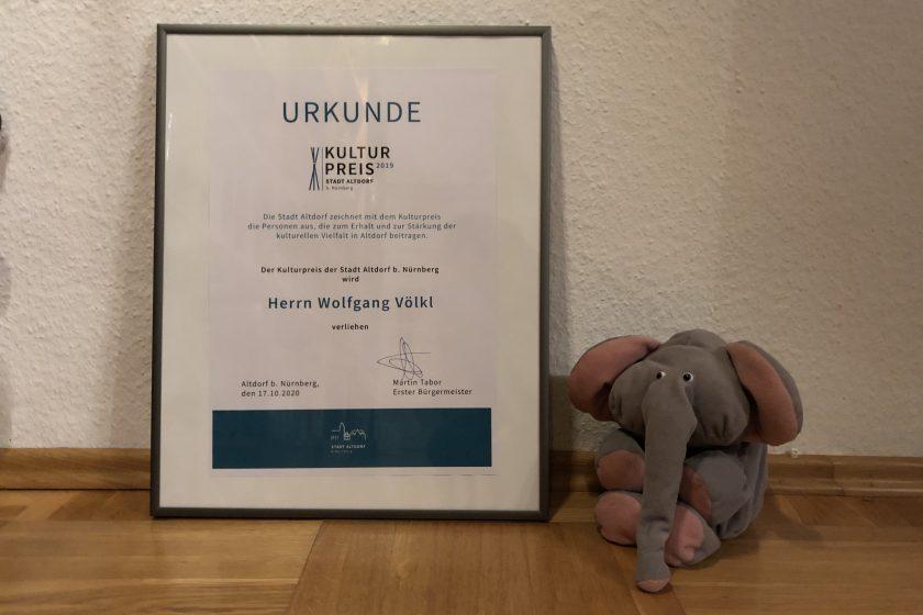 Kulturpreis Urkunde